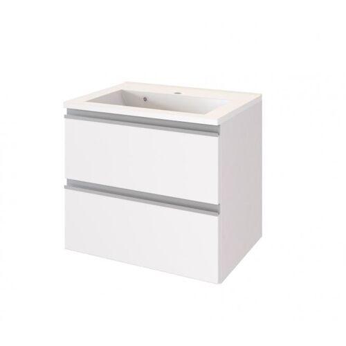 Waschtisch 60 inkl Mineralgussbecken AREZZO von Held Möbel Weiß matt