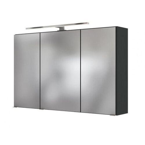Spiegelschrank 100 inkl Aufbauleuchte Baabe von Held Möbel Grau