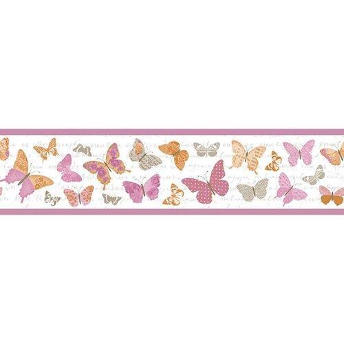Casadeco Caselio Bordüre Pretty Lili Schmetterlinge Pink