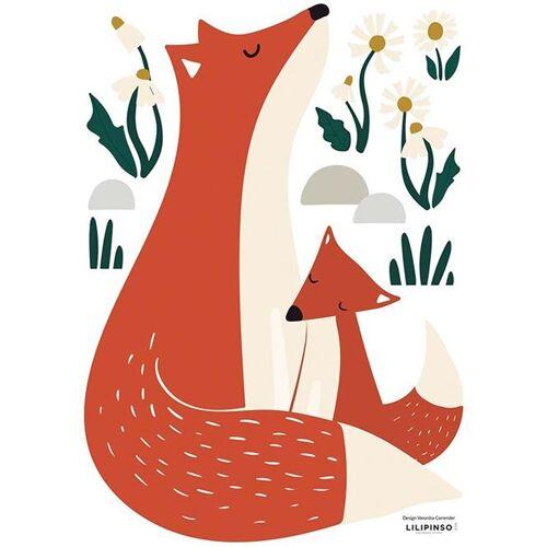 Lilipinso Wandsticker Fuchsfamilie