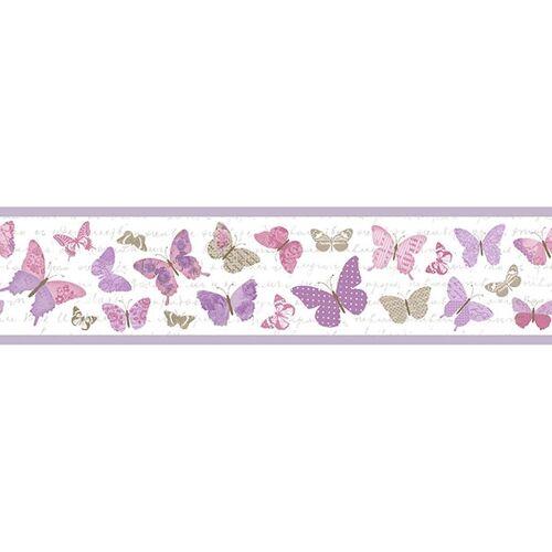 Casadeco Caselio Bordüre Pretty Lili Schmetterlinge Lila