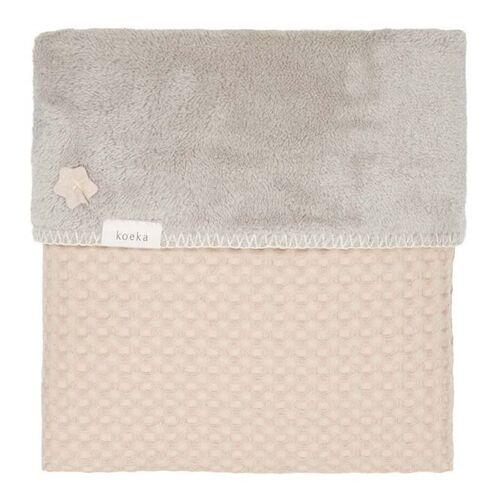 Koeka Wiegendecke Oslo Sand - Misty Grey 75 x 100 cm