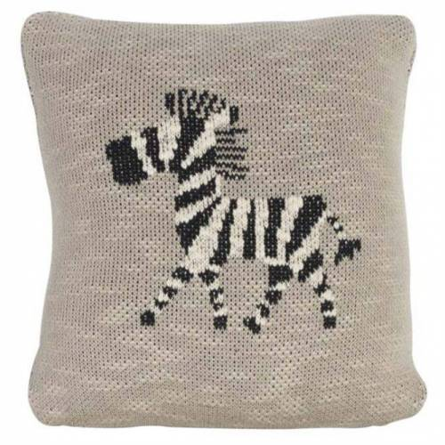 Quax Gestricktes Kissen Zebra 30 x 30 cm