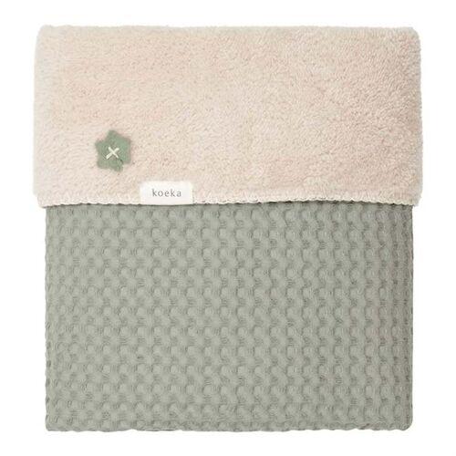 Koeka Babydecke Shadow Green - Soft Sand 100 x 150 cm