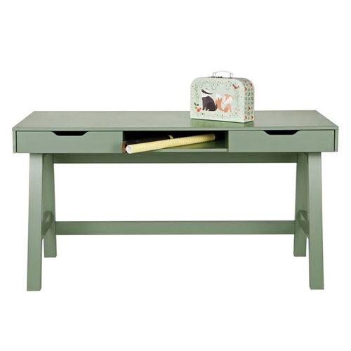 Woood Schreibtisch Kiefernholz Nikki Jadegrün