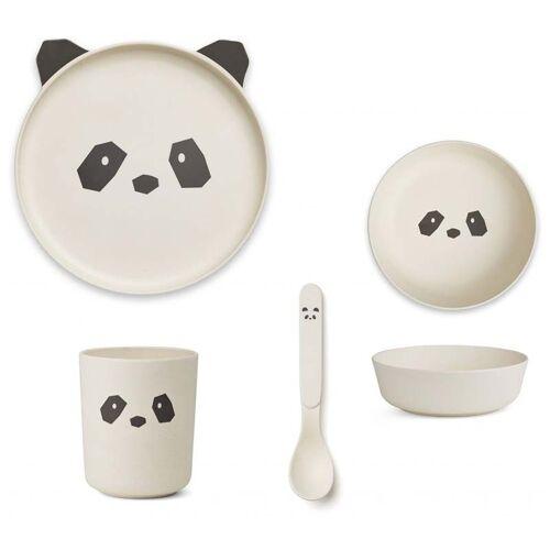Liewood Bambus Kindergeschirr Set - Panda creme de la creme