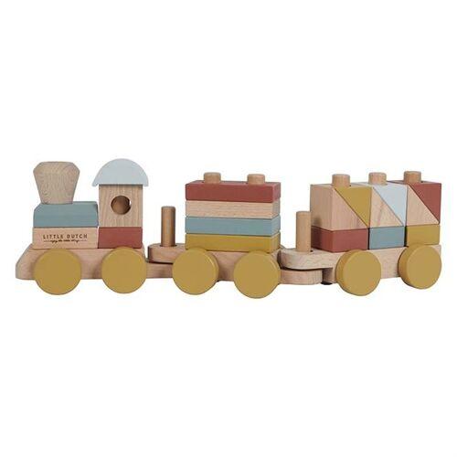 Little Dutch Holz-Eisenbahn mit Steckformen