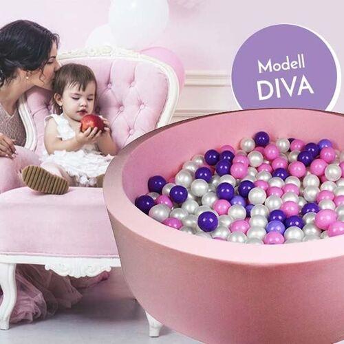 meinbaellebad.de Bällebad Diva Rosa