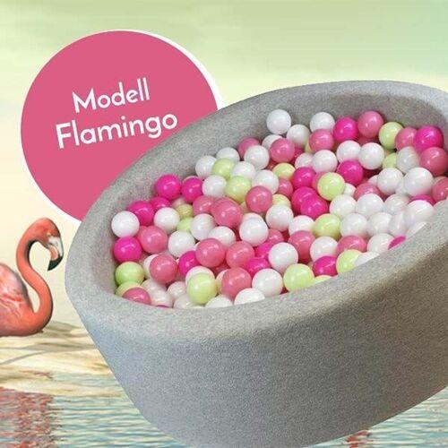 meinbaellebad.de Bällebad Flamingo Grau