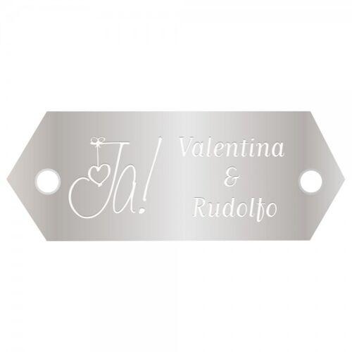 Innograv Group Hochzeitsschild aus Aluminium (Gravurmaß 45x18 mm - 2 Zeilen)