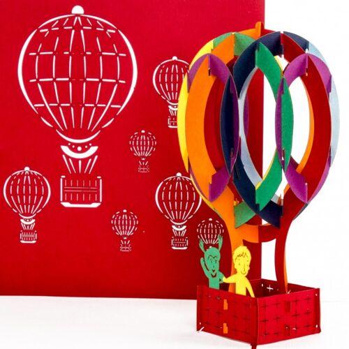 Colognecards Pop-Up Karte Heissluftballon bunt