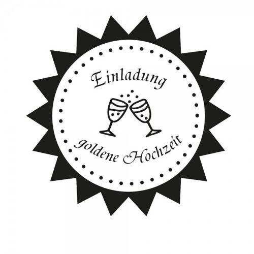 stempel-fabrik.de Hochzeitsstempel - Einladung - Sektglas (Ø 50 mm)