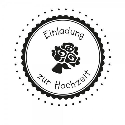 stempel-fabrik.de Hochzeitsstempel - Einladung - Blumen (Ø 50 mm)