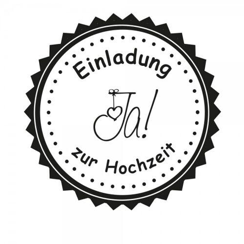 stempel-fabrik.de Hochzeitsstempel - Einladung - JA (Ø 50 mm)