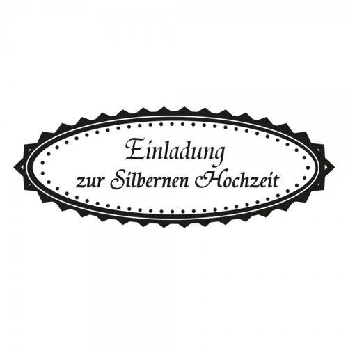 stempel-fabrik.de Hochzeit - Einladung zur Silbernen Hochzeit (60x30 mm)