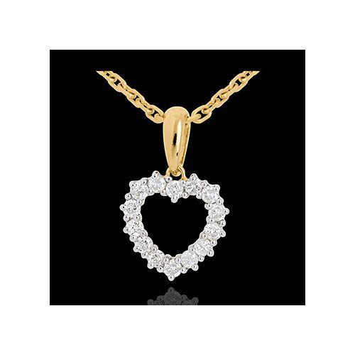 Edenly Anhänger funkelndes Herz - 0.25 Karat - 14 Diamanten