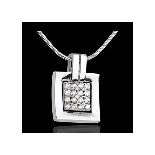 Edenly Anhänger Karo in Weissgold - 0.24 Karat - 16 Diamanten