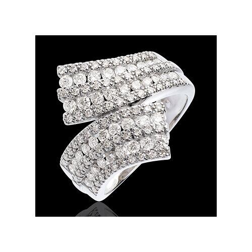 Edenly Ring Zauberwelt - Schärpe mit Diamantpavé - Weißgold - 1.1 Karat - 10