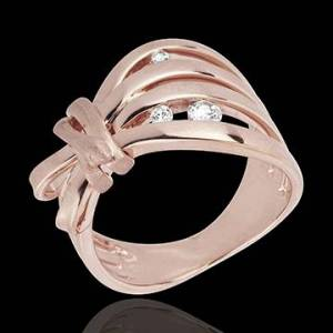 Edenly Ring Spaziergang der Sinne - Camouflage - Rotgold