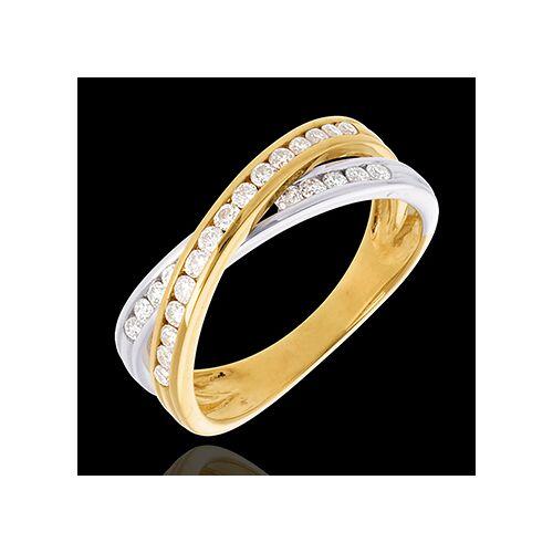 Edenly Ring Ellipse mit Diamanten besetzt - 0.38 Karat - 25 Diamanten