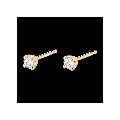 Edenly Diamant Ohrstecker in Gelbgold