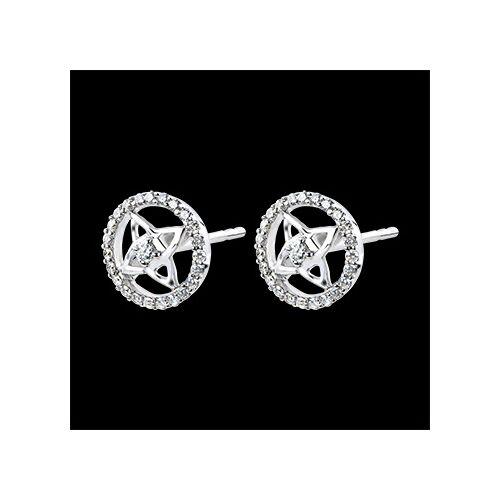Edenly Ohrringe Schicksal - 18 Karat Weißgold und Diamanten
