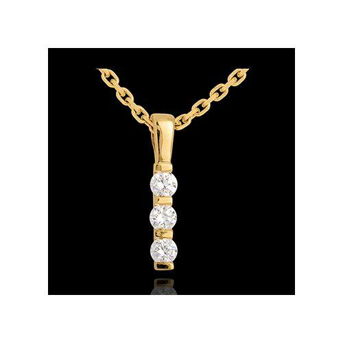 Edenly Anhänger Totem Trilogie in Gelbgold - 0.24 Karat - 3 Diamanten