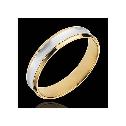Edenly Ring Dandy aus Gelbgold und Weissgold - 4mm