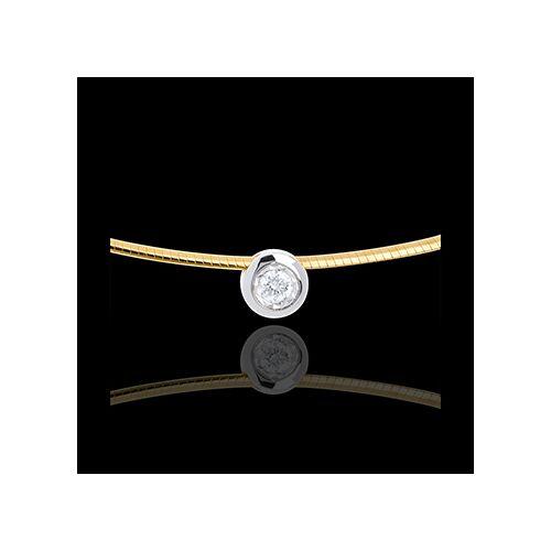 Edenly Diamant-Collier Flohdiamant in Gelb- und Weissgold