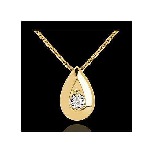 Edenly Diamant Collier Phiole in Gelbgold