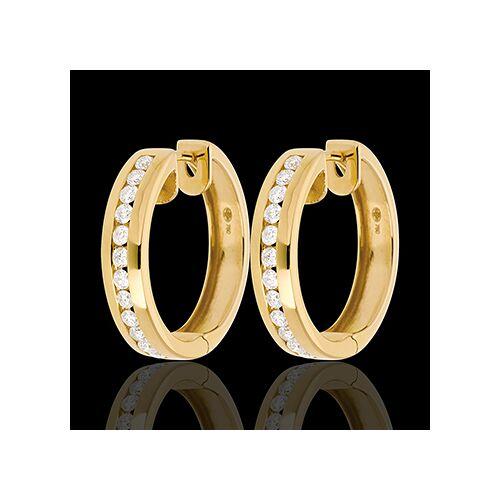 Edenly Diamanten-Creolen in Gelbgold - 0.43 Karat - 24 Diamanten