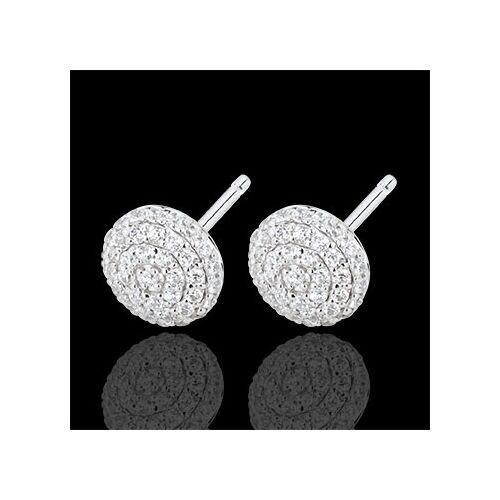 Edenly Ohrringe Schicksal - Olga - Weißgold und Diamanten