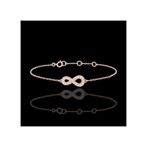 Edenly Armband Unendlichkeit - Roségold und Diamanten - 18 Karat