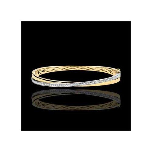 Edenly Armreif Saturn Duo - Gelbgold und Diamanten - 9 Karat