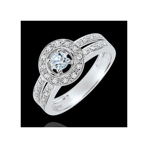 Edenly Verlobungsring Schicksal - Lady - 0.2 Karat Aquamarin und Diamanten - 18