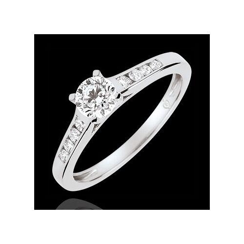 Edenly Solitaire Verlobungsring Altesse - Diamant 0.4 Karat - Weißgold 18 Kara
