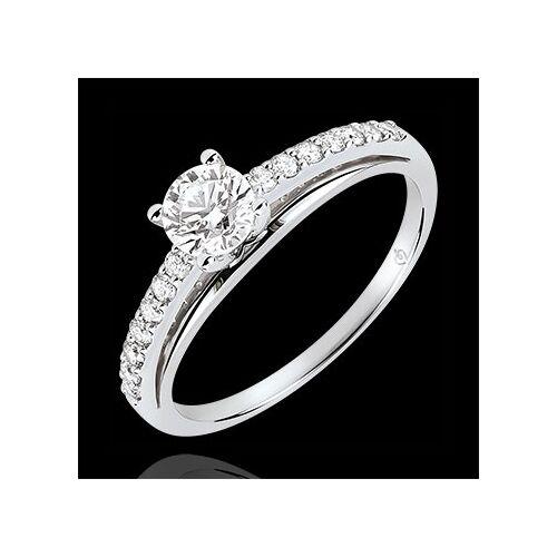 Edenly Solitaire Verlobungsring - Avalon - Diamant 0.4 Karat - Weißgold 18 Kar