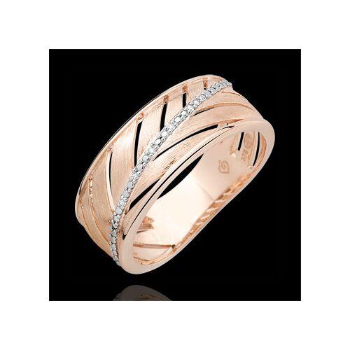 Edenly Ring Palme - 375er gebürstetes Roségold und Diamanten
