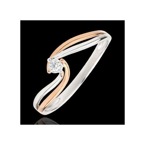 Edenly Solitär Ring das Kostbarer Kokon - Teuerste - Rosé- und Weißgold - 0.