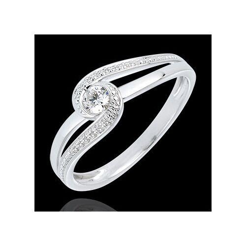 Edenly Verlobungsring Kostbarer Kokon - Teuerste - Weißgold - Diamant 0.12 Kar