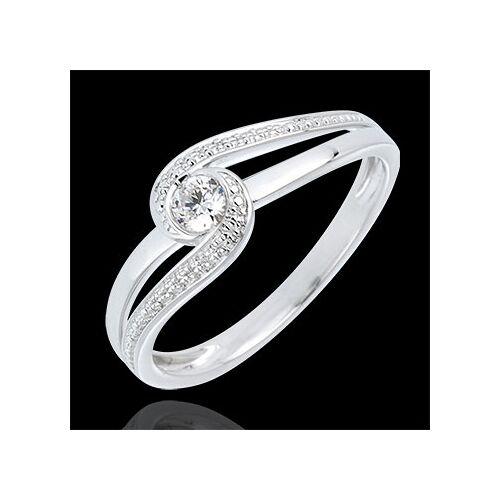 Edenly Ring Kostbarer Kokon - Teuerste - Weißgold - Diamant 0.12 Karat - 9 Kar