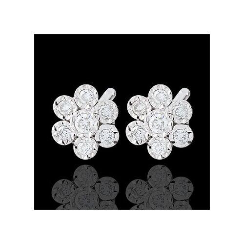 Edenly Ohrringe Blüte - Schneeflöckchen Variation - Weißgold