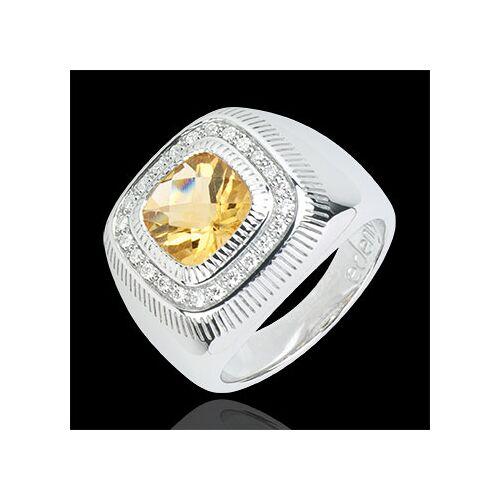 Edenly Ring Sonnenauge - Silber, Diamanten und Halbedelsteine