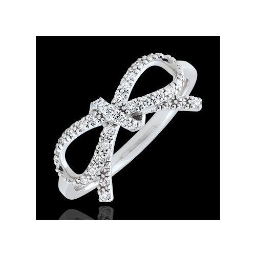 Edenly Feine Schleife mit Diamanten - Silber und Diamanten