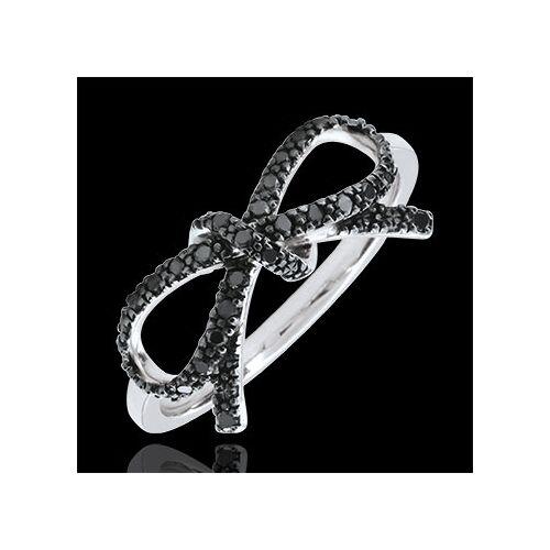 Edenly Feine Schleife mit schwarzen Diamanten - Silber und Diamanten
