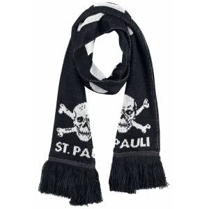 FC St. Pauli FC St. Pauli - Schlauchschal-schwarz weiß - Offizieller & Lizenzierter Fanartikel schwarz