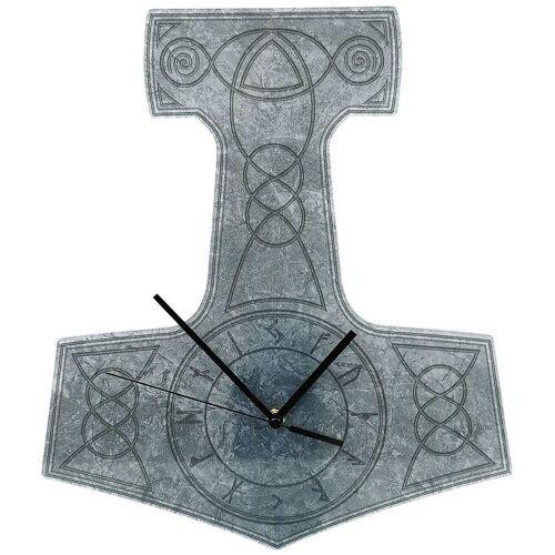 Acryl-Wanduhr Thor's Hammer Wanduhr-grau grau