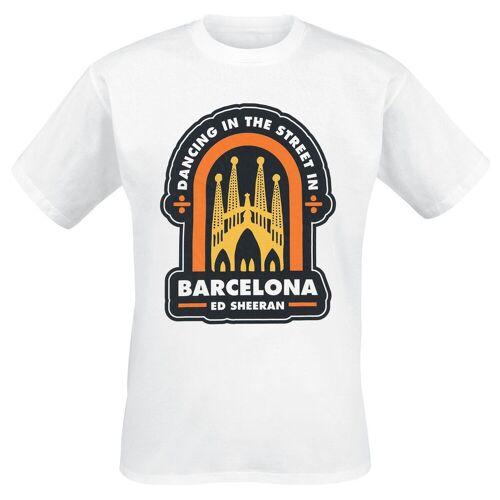 Ed Sheeran Barcelona Herren-T-Shirt  - Offizielles Merchandise weiß