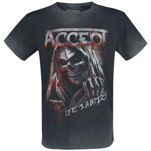 Accept Life's A Bitch Herren-T-Shirt  - Offizielles Merchandise schwarz