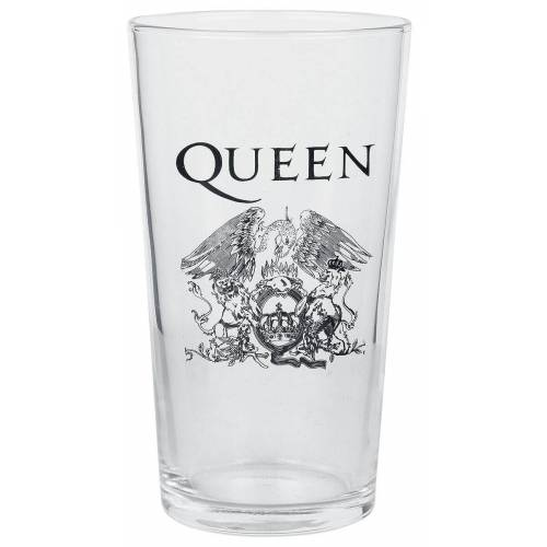 Queen Crest Pint-Glas-klar - Offizielles Merchandise klar